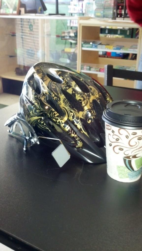 Illustration 10: Hot Tea and my helmet