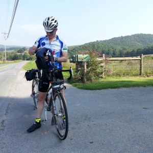 Day 2. Outside Covington. It sure is hilly and pretty out here