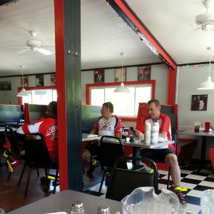 Lunch on Day 1 of the checkout ride. Hot  Plates