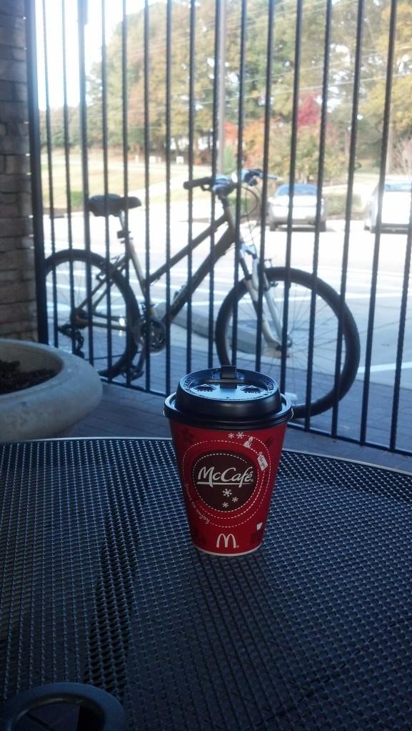Illustration 7: Pumpkin spice latte and my mountain bike