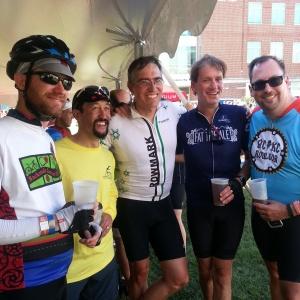#BikeDC boys at the finish.