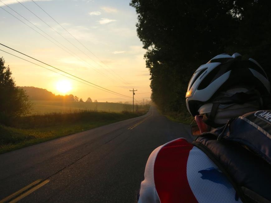 Sunrise on Day 3. AA1000K