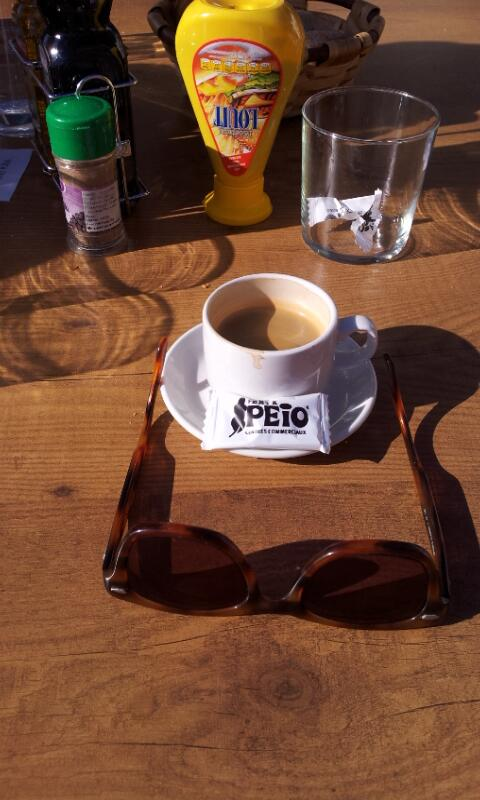Hope @coffeeneur is envious I crossed the Pyrenees in a freezing rainstorm yesterday: today #coffeeneuring is this