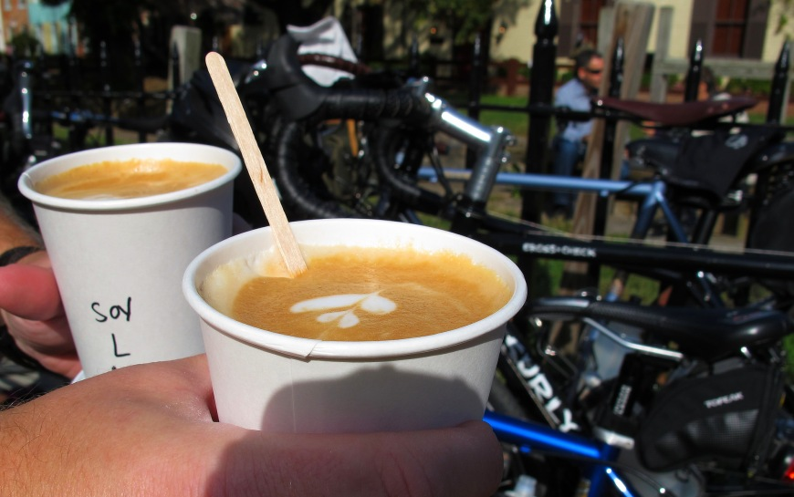 Bikes and coffee at Baked & Wired. MrTinDC