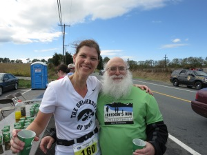 The runners life: volunteers, drinks, and a port o' potty