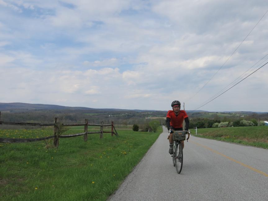 THIS hill. Matt on the D.C. Randonneurs 400K