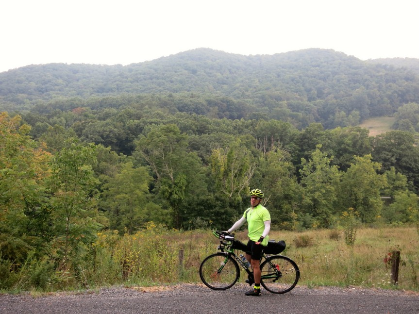 Barry on Day 2 of the Appalachian Adventure 1000K