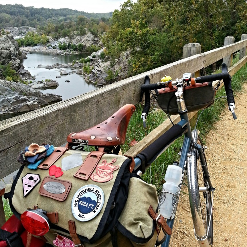 Riding out to Freedom's Run Marathon on the C&O Canal