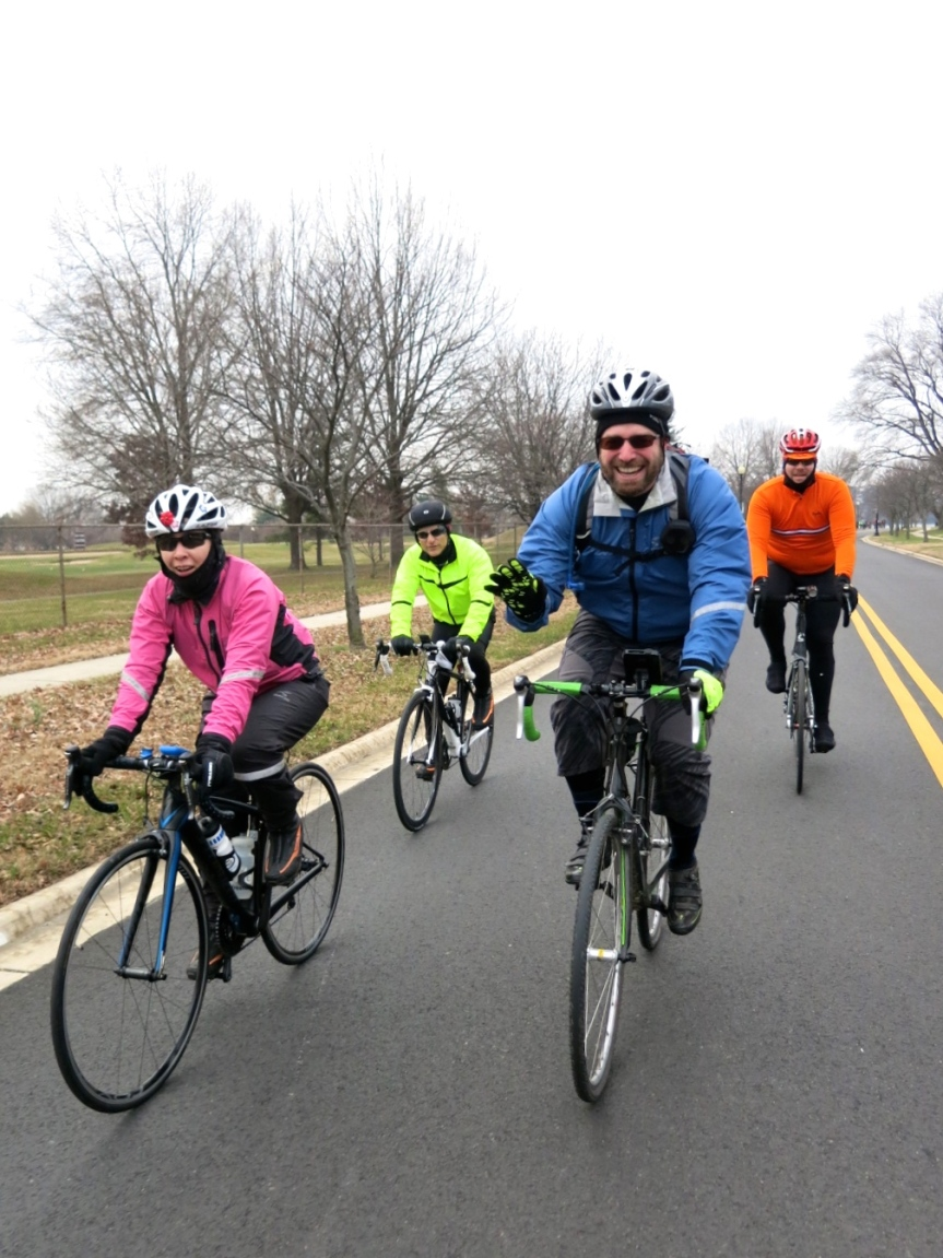 Hains Point 100. Sherry, Ted, Michael, and Shawn
