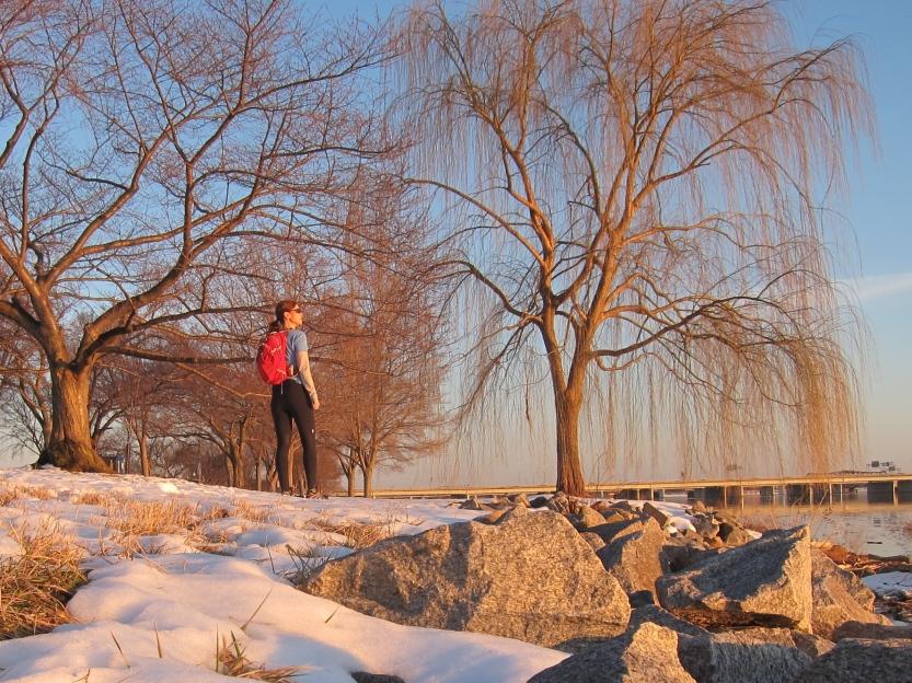 Valentine's Day afternoon run commute