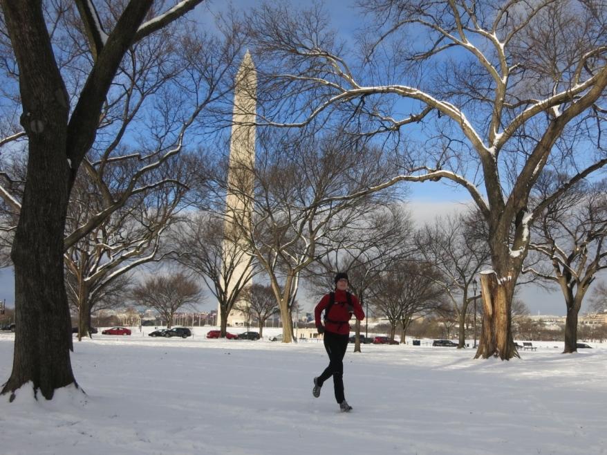Winter run commute