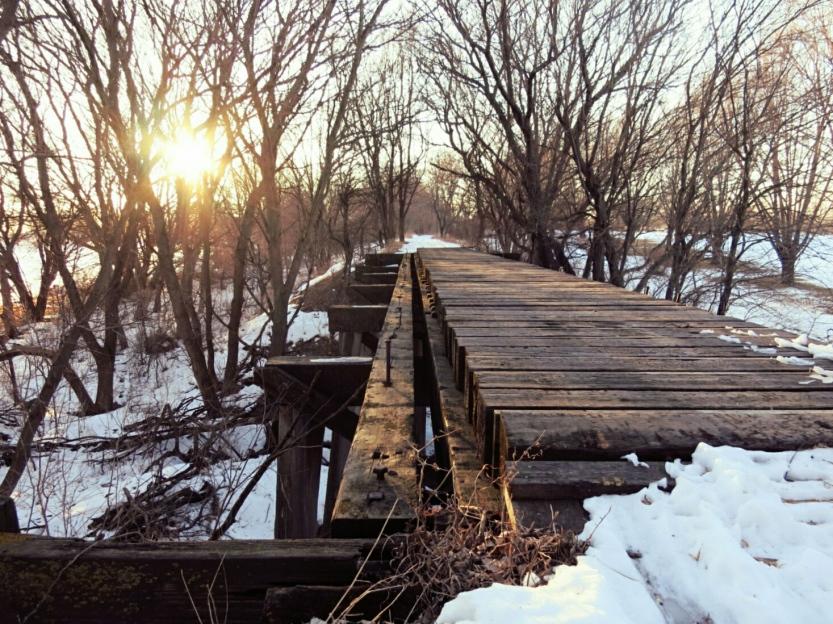 Trestle bridge Iowa