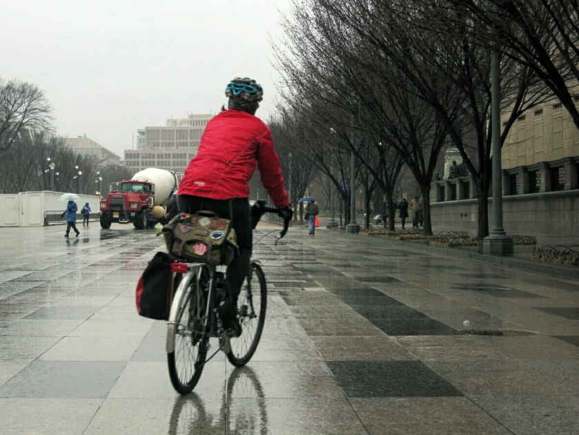 Ending the Week with a Rainy Pass through the White House Plaza