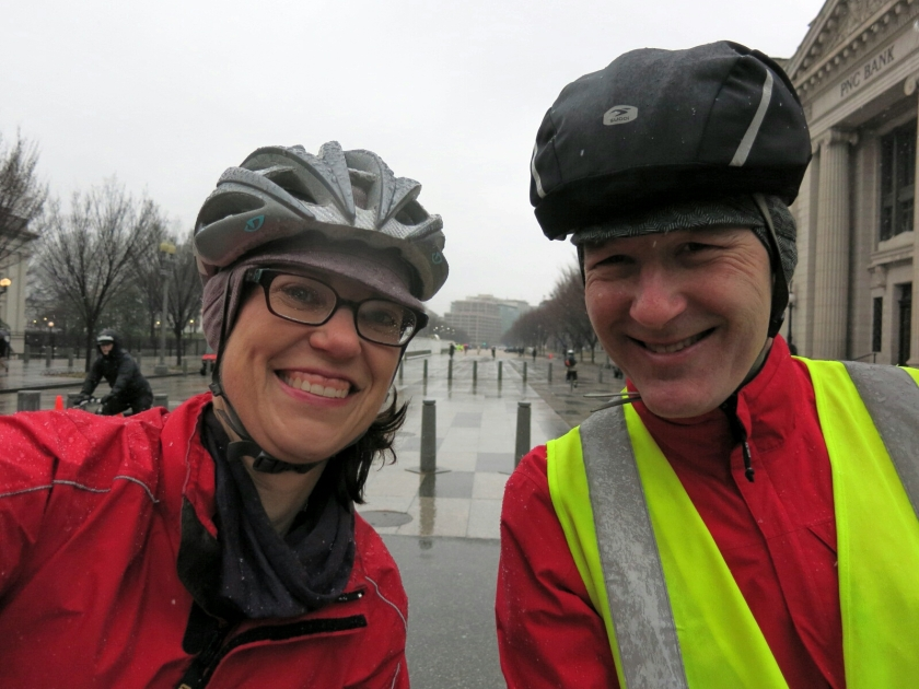 Cheesy pre-work selfie with my favorite cycling partner
