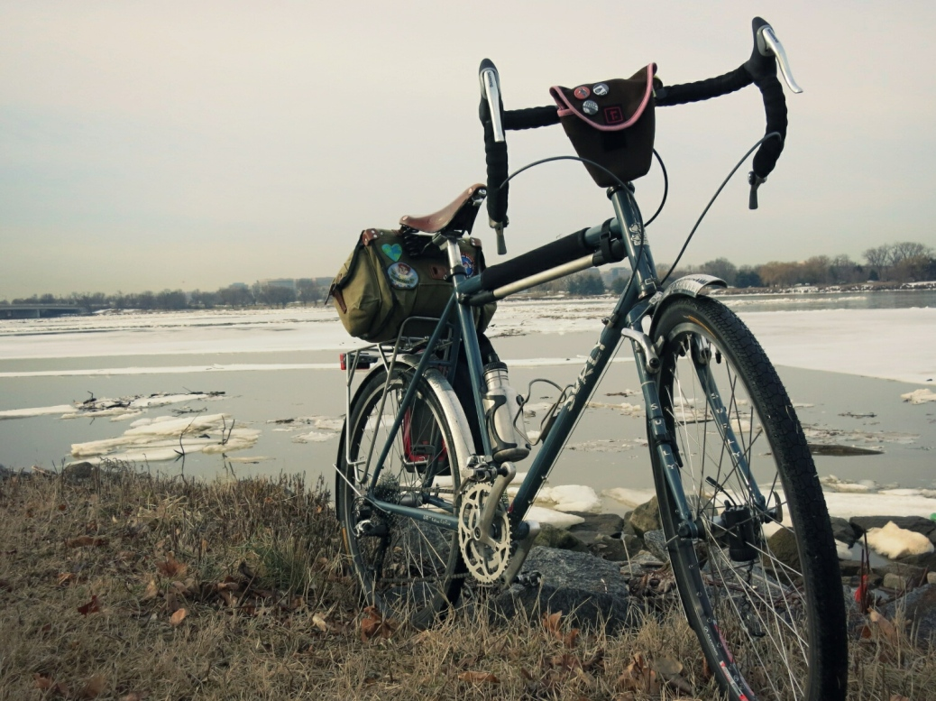 Surly in melting March - Potomac