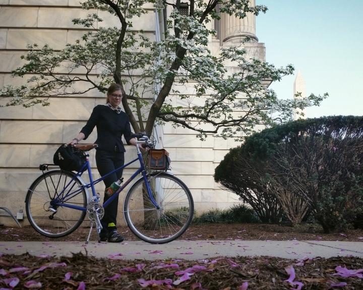 30 Days of Biking Mixte and dogwood by USDA