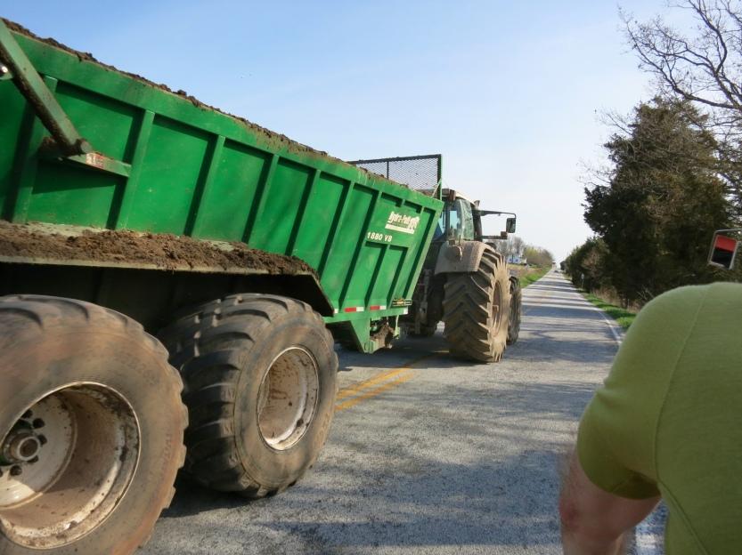 Tractor on the 300K brevet