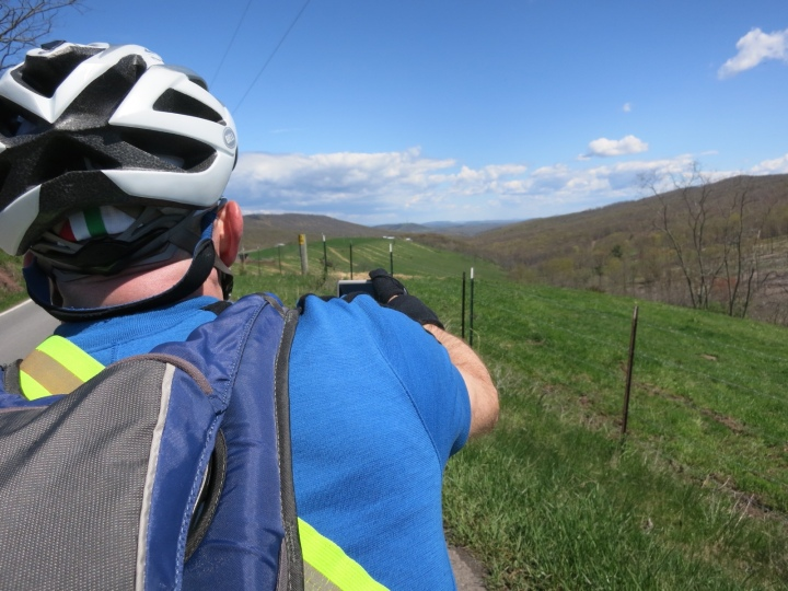 Felkerino takes a photo after another climb
