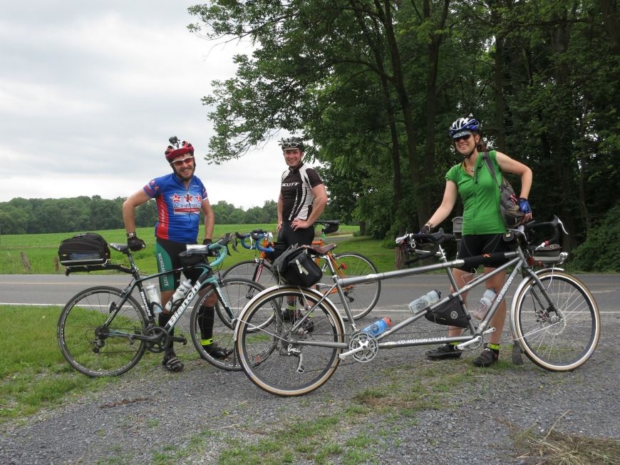 Kip, Dylan, and me on the 600K brevet. Photo by Felkerino