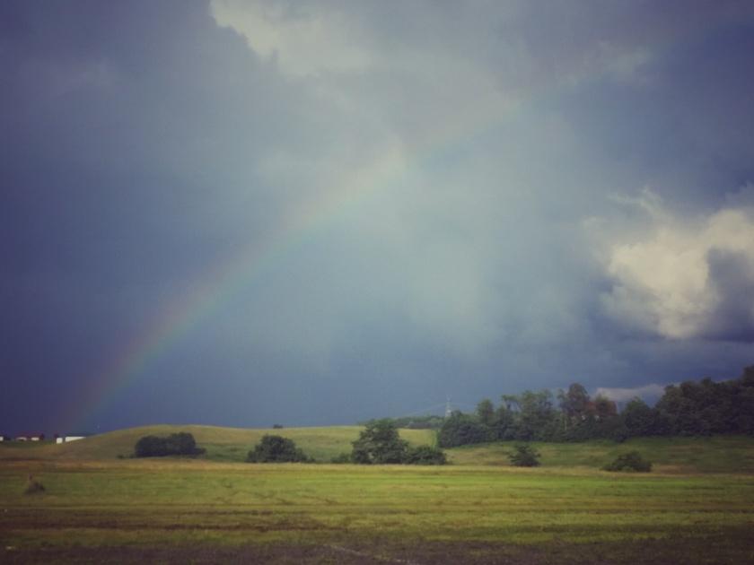 Rainbow at the finish!