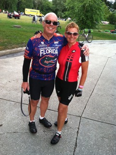 Lisa and brother on RAGBRAI
