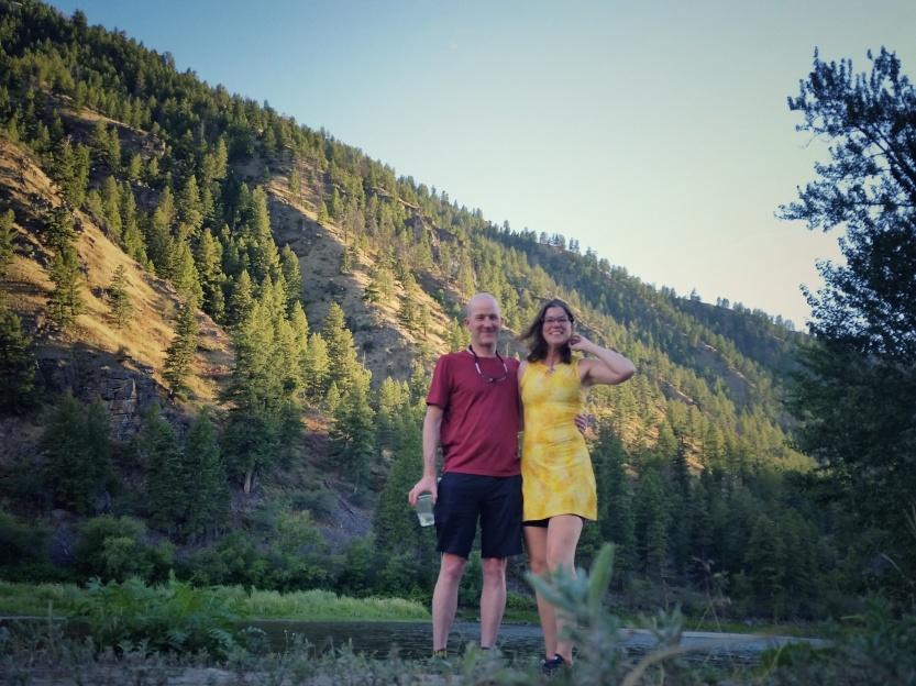 Felkerino and me, bike tour Idaho