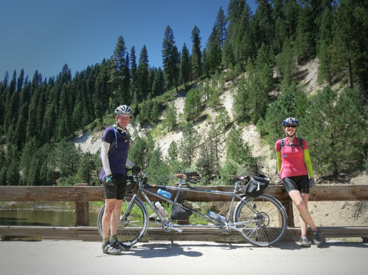 Idaho bike tour, Felkerino and me