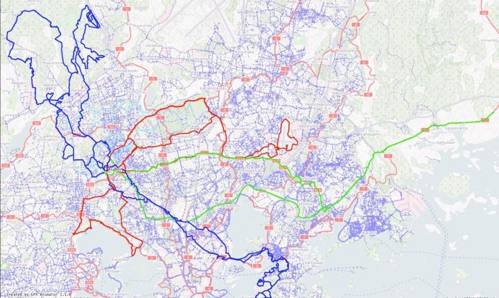 Jussi coffeeneuring map