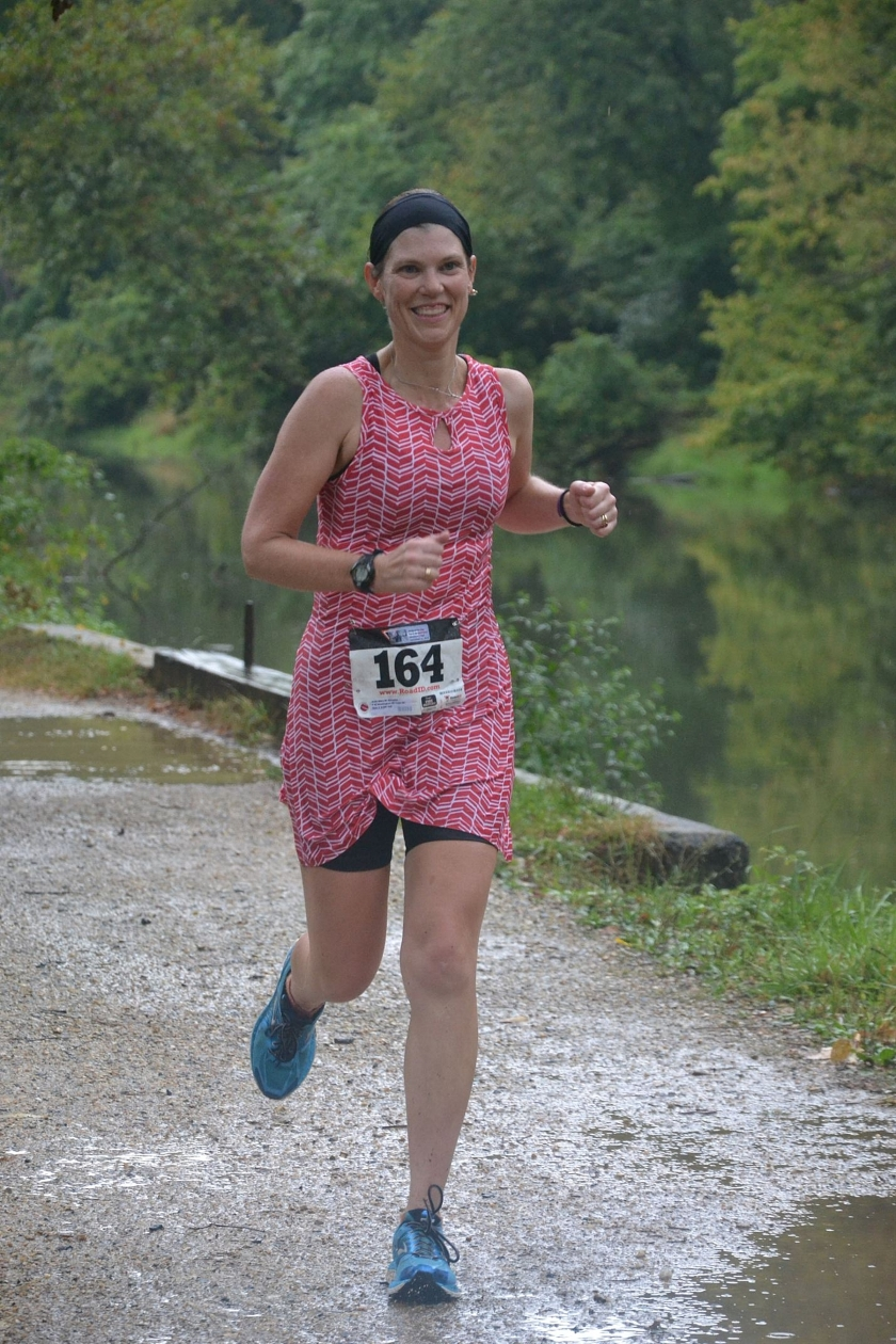 Splashing through puddles at the finish line. Photo credit: Tony Estrada Photography