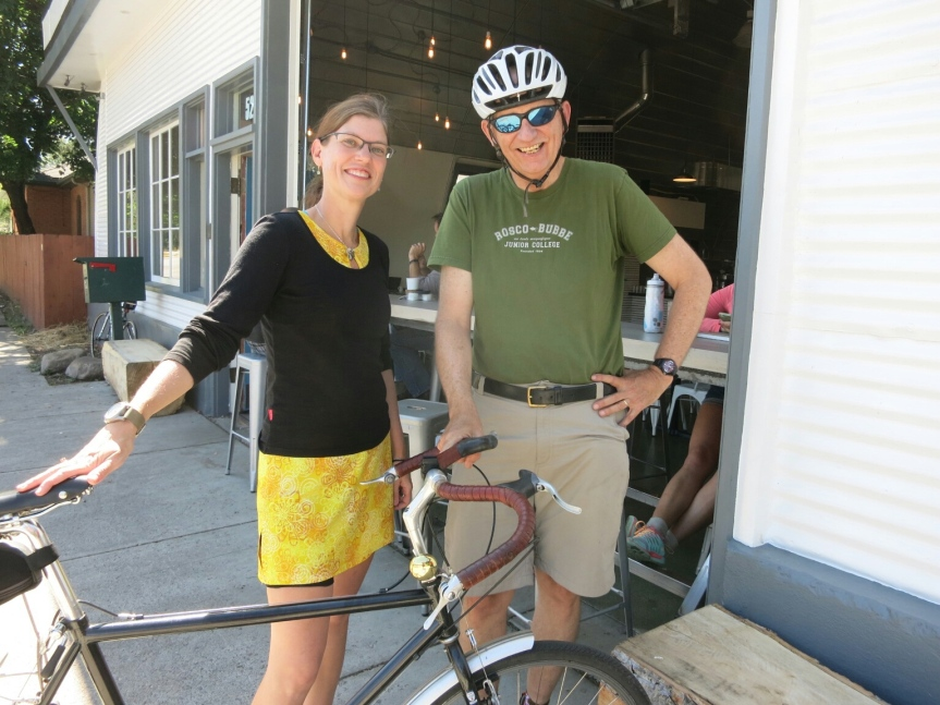 Coffeeneuring with Tom in Montana