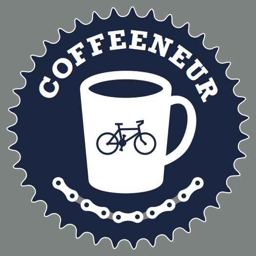 Coffeeneuring Patch 2015, design credit to Doug