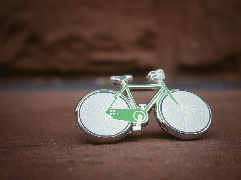 Bicycle lapel pin