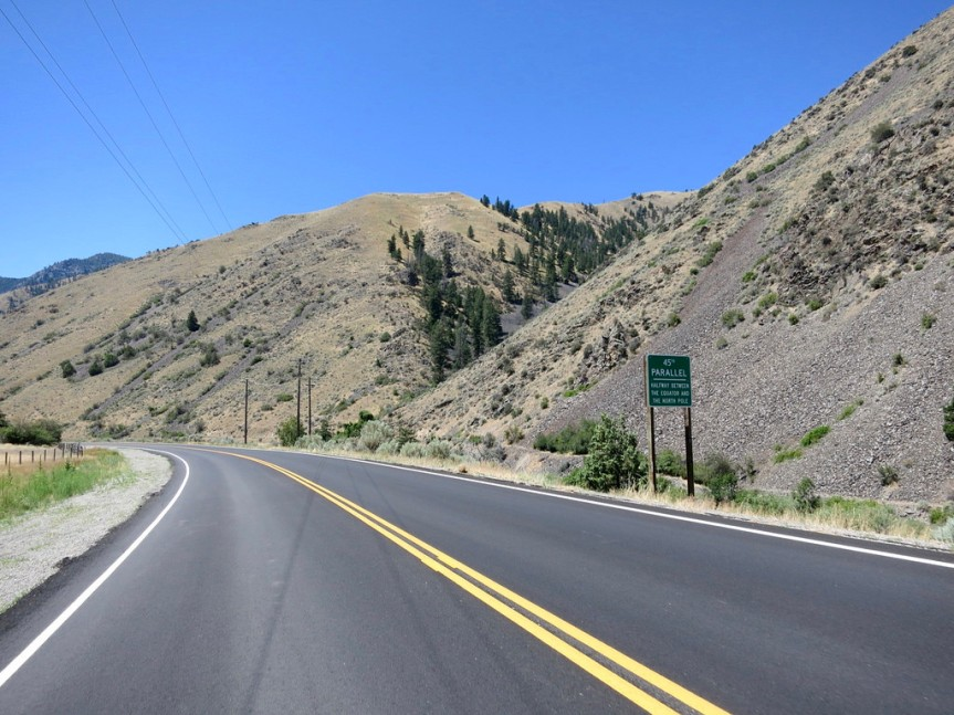 Day 3: Touching the 45th Parallel between Challis and North Fork, Idaho