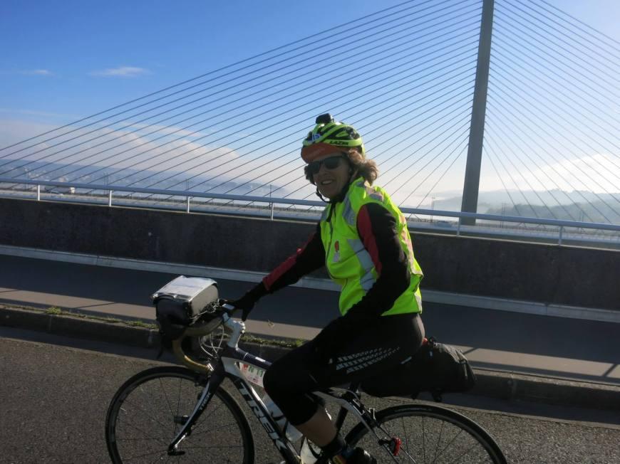 Crossing the bridge into Brest. Courtesy of Gardner Duvall
