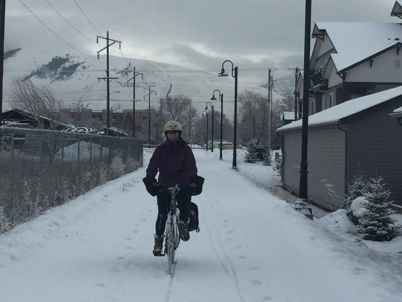 Milwaukee Trail in Missoula, with Mount Jumbo in the background. Courtesy of Emma Wimmer