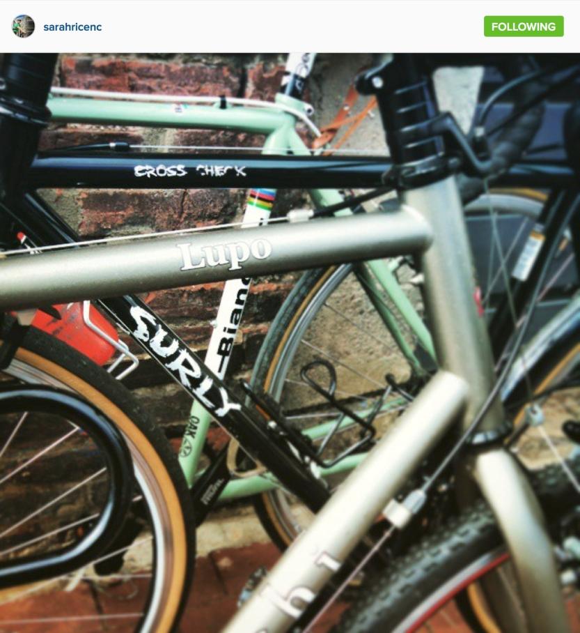 Bicycle coffee crawl... Photo credit Sarah Rice