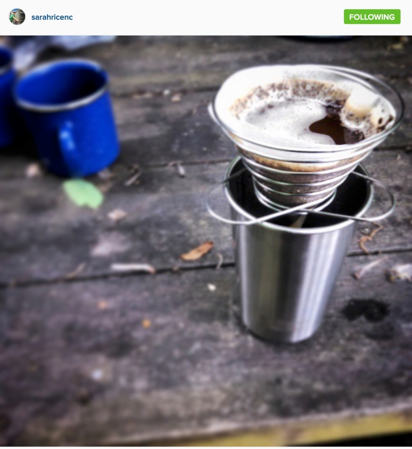 "Sarah Rice S on Instagram: ""#coffeeoutside @counterculturecoffee nueva llusta. Bike camping in WV."""