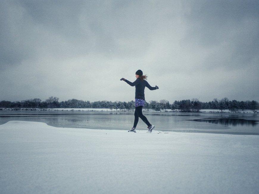 snowy day run