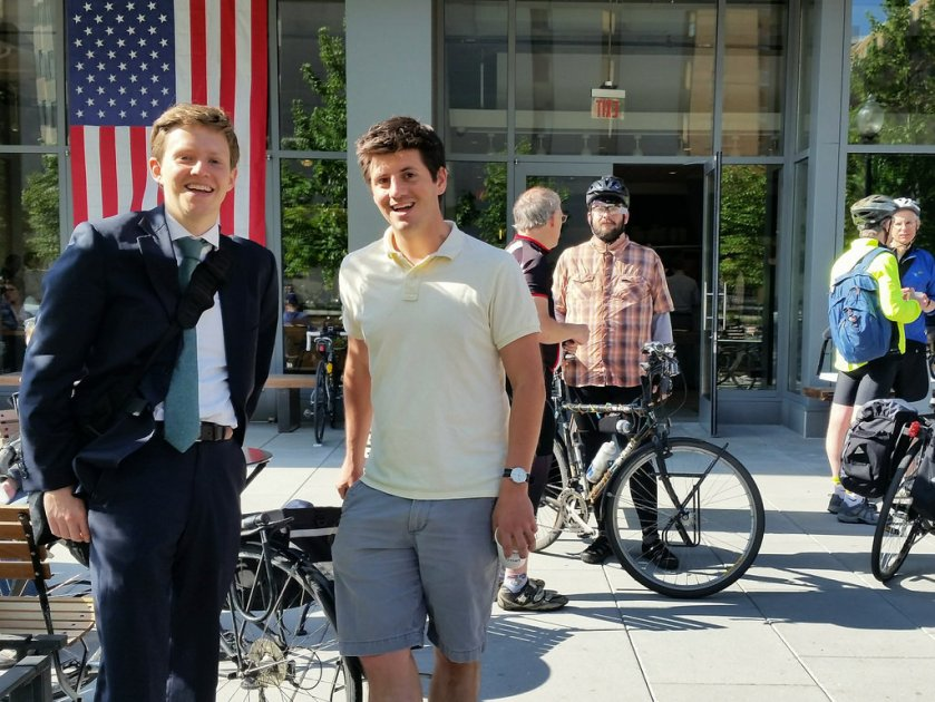 Bike to Work Day-Brian and Michael