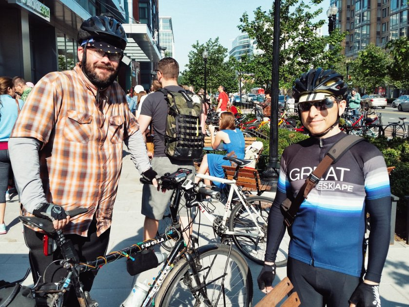 Bike to Work Day - Ted and Ed