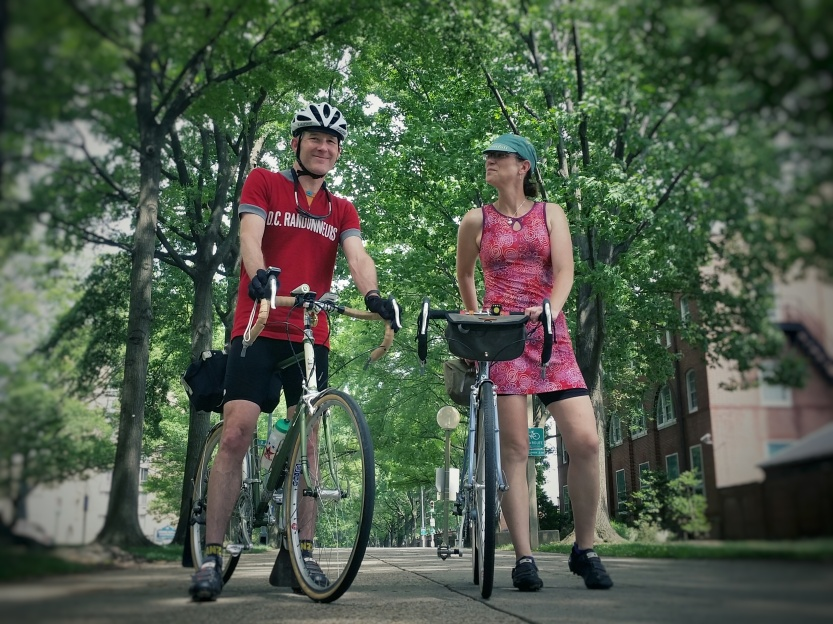 Felkerino and me. We're coming to your city. Not on single bikes, but you get the idea.