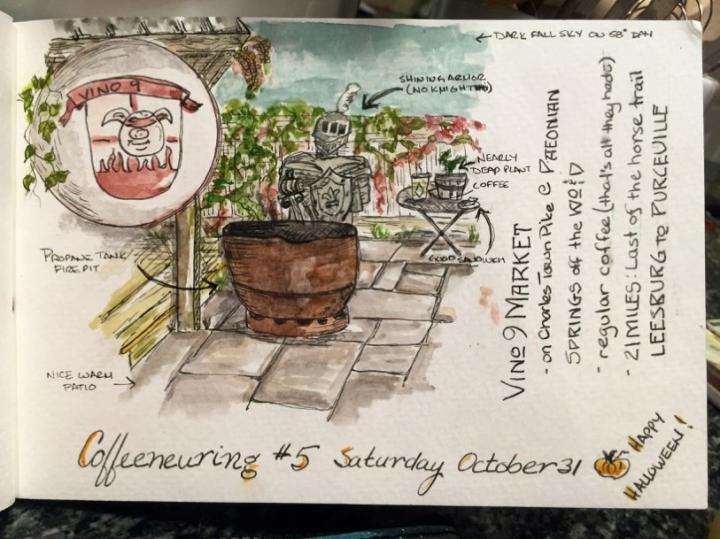 Coffeeneuring-Kathy sketch