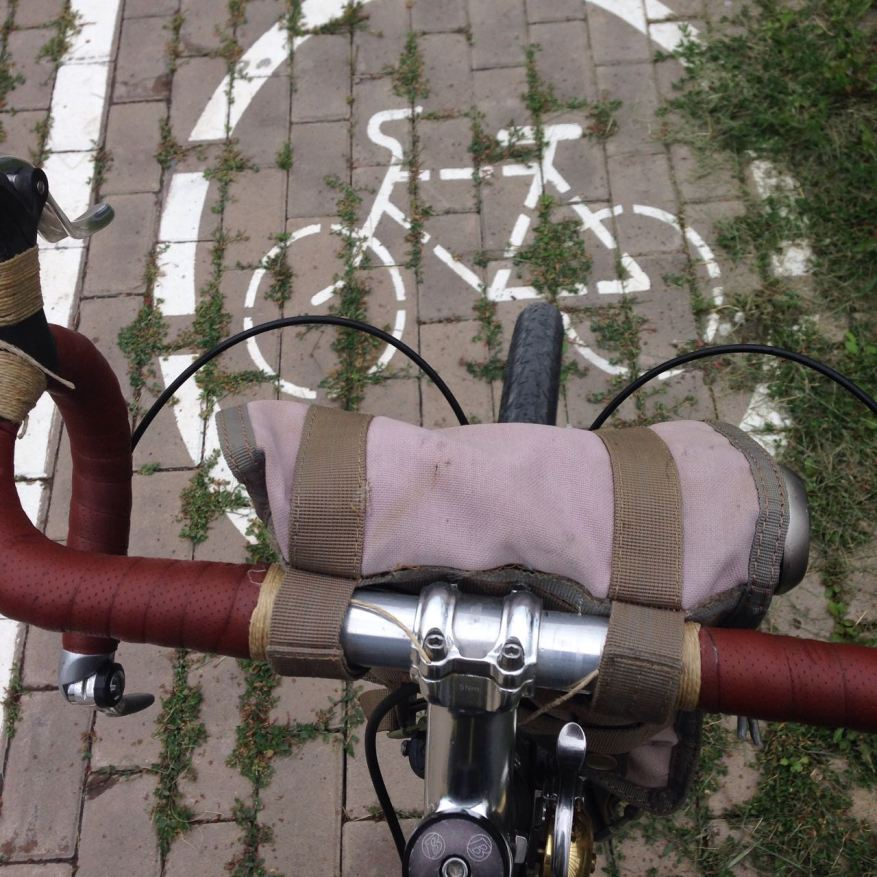 Photo courtesy of Doug (how about the twine on those handlebars!?)