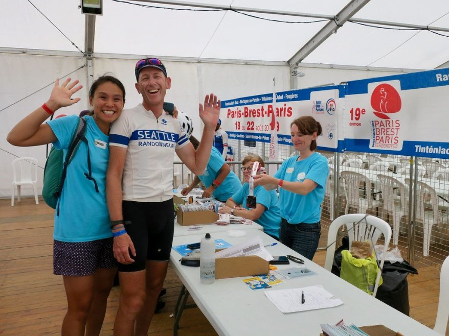 Day 4: Carolyn (who volunteered throughout) and Jerry at the finish