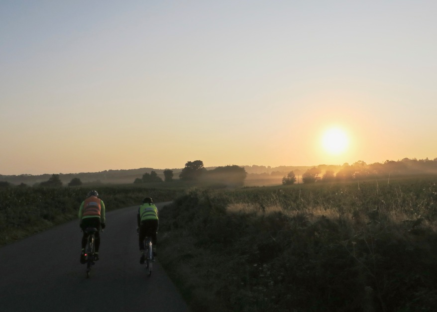 Day 2: Anson and Roy rolling out of Loudeac