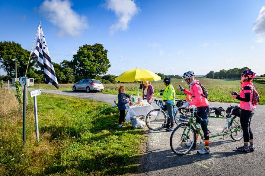 Day 2: Roadside stop in Brittany, courtesy of Bernard Le Bars